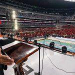 CIERRA ANTORCHA EVENTOS DE 45 ANIVERSARIO EN EL AZTECA