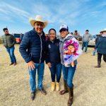 Connie Herrera en entrega de obras en Amealco