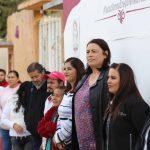 Elvia Montes encabeza arranque de obra en el barrio Los Ángeles