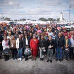 Elvia Montes fortalece alianza con taxistas de Ezequiel Montes.