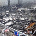 Arde bodega de tiliches en Santa María Magdalena