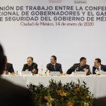 Pide Gobernador a gabinete federal de seguridad coordinación con base en objetivos