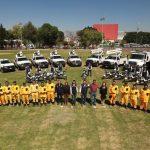 Luis Nava entrega 24 vehículos a la Secretaría de Servicios Públicos Municipales