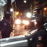 Movilización por cateo en el centro de San Juan del Río