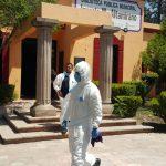 Sanitizan Presidencia Municipal de Tequisquiapan