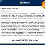 Suspenden actividades universidades a nivel nacional tras segunda fase del COVID-19