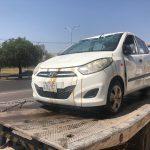 Vuelca vehículo en el cruce de Sombrerete y Bernardo Quintana