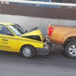 Chocan vehículos en la carretera de Hércules a Los Arcos
