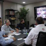 Luis Nava sostiene conferencia virtual con alcaldes de otras entidades