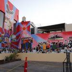 """Rectora inaugura mural """"Alegoría Sindical"""" en instalaciones del Sindicato de docentes"""