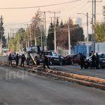 Muere presunto ladrón en choque frontal contra patrulla en Acceso III