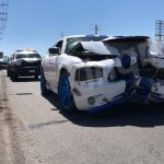 Choque en vehículos por alcance en prolongación Bernardo Quintana