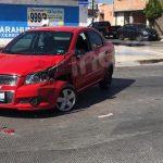 Chocan vehículos en Paseo Querétaro