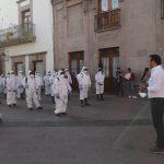 Municipio de Querétaro puso en marcha las brigadas de sanitización de espacios públicos