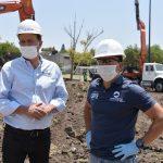 Recorren Roberto Sosa y Mauricio Kuri obra para regeneración de la deportiva en Zapata