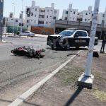 Embisten a motociclista en Avenida Paseo Querétaro