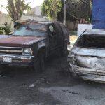 Incendian vehículos en fraccionamiento Eduardo Loarca