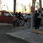 Choca contra poste en Cerro del Sombrerete y Boulevard de la Nación