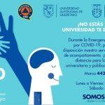 Psicólogos UAQ ofrecen acompañamiento telefónico durante contingencia por COVID-19