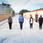 Entrega Elvia Montes obra de rehabilitación de la calle Francisco Villa