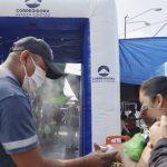 Instalan lavabos para sanitización en zona de bancos y centro comercial de Corregidora