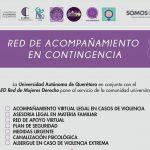 """CAFD Red de Mujer Derecho UAQ lanza campaña """"Red de Acompañamiento en Contingencia"""" para mujeres"""