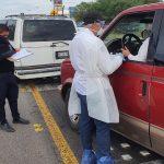 Inspección carretera sobre CoVid. 297 personas no entraron a la entidad