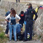 Motociclista herido tras chocar con muro