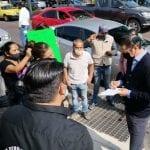 Dialoga Gobernador con manifestantes