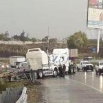 Colisionan vehículos pesados