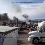 Se incendia corralón vehicular Sur