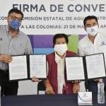 Firman convenio Corregidora y CEA para llevar agua a 154 familias