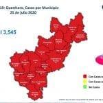 Querétaro con tres mil 545 casos de COVID-19