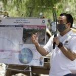 Con vecinos, Luis Nava supervisa el Dren Pluvial de Santa Rosa Jáuregui