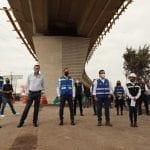 Supervisan autoridades estatales y municipales las obras del Viaducto Poniente