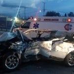 Perecen dos en fuerte accidente en la 57 a la altura de Pedro Escobedo