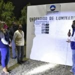 Llevan alumbrado a las comunidades de La Poza y Purísima de La Cueva