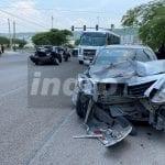 Fuerte colisión en Boulevard Peñaflor