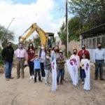 Elvia Montes hace arranque de obras en Villa Progreso