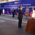 Trasladan el fuego simbólico a Dolores Hidalgo, Guanajuato
