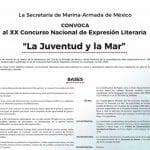 XX Concurso Nacional de expresión literaria La Juventud y La Mar