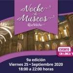 25 de septiembre 9ª edición de Noche de Museos en plataformas digitales