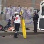 Accidente vial de motociclistas sobre calle Arteaga en SJR