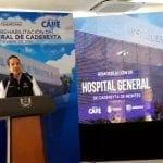 Gobernador entrega rehabilitación de Hospital General de Cadereyta