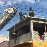 Se accidentan trabajadores de la construcción