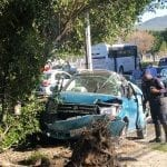 Choca vehículo contra árbol