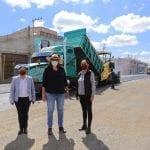 Elvia Montes realiza supervisión de obras en cabecera municipal