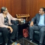 Se reúne Elvia Montes con el Presidente de la Mesa Directiva del Senado