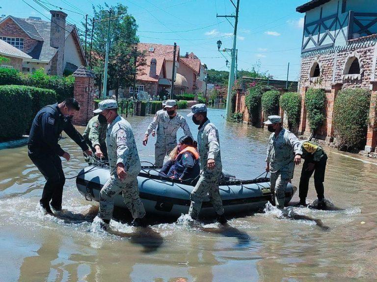 Guardia Nacional mantiene recorridos en zonas afectadas por lluvias